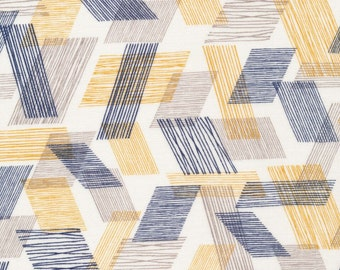 Threads - Warp and Weft in Brown by Eloise Renouf for Cloud 9 Fabrics - Organic Double Gauze Fabric