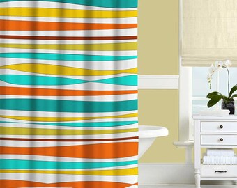 teal and yellow shower curtain. Colorful Shower Curtain Turquoise Teal Orange Yellow Striped Trees Forest  Bath Brown Beige Gray The Best 100 And Image Collections