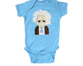 Einstein Infant Bodysuit - Light Blue