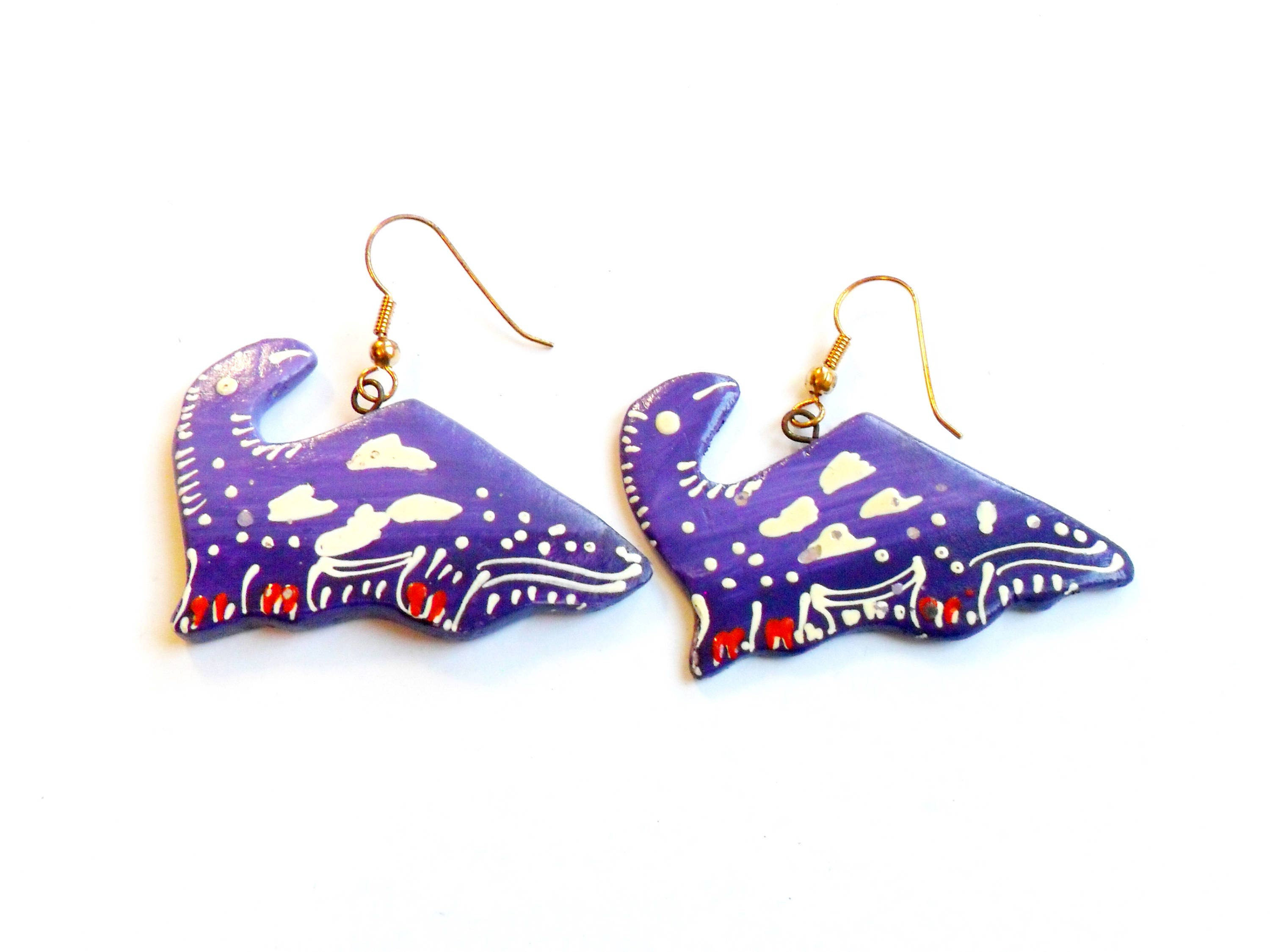 hand baby giraffes earrings products painted