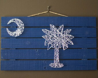 Made to Order, String Art, South Carolina, State Flag