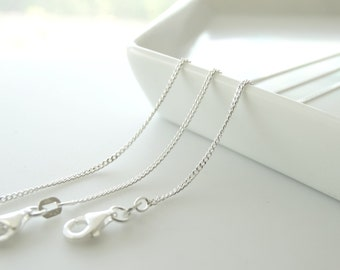 Sterling Silver Necklace Chain Finished - Create your own Necklace