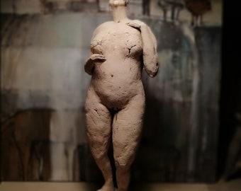 Woman, Standing, Nude/ Unique Standing Ceramic Sculpture