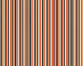 Haunted House Haunted Stripe Orange Cotton Woven