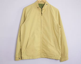 Vintage 1950's/60's Mustard Yellow Golf Jacket L