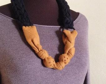 Collana handmade con Cravatta vintage