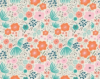 SALE!! 1 Yard Ava Rose by Deena Rutter for Riley Blake Designs-  5872 Cream Floral