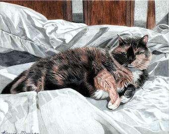 8x10 Print Calico Kitty