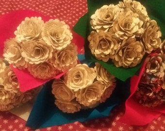 12 x Hunger games paper rose bouquet