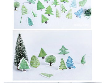 Trees Stickers Pack SM232424 45pcs