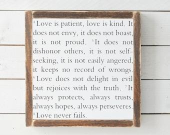 Love Verse | Wood Sign