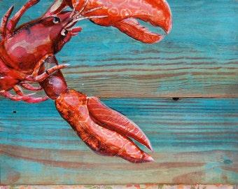 "Lobster in Maine - ""Lobster Blissque""- Fine Art Print , All Sizes"