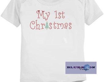 My 1st Christmas Rhinestone T-Shirt