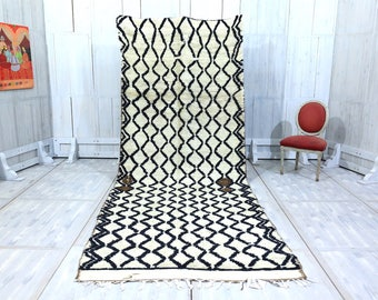 AUTHENTIC SOFT AZILAL runner 4.9ft x 12.8ft Moroccan rug Wool Beni ourain Home Decor Handmade Rug Berber Rug Beni rug Handmade Moroccan.