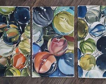 Marble Art, Marble Painting, Marbles, Gambling Art, Gambling Painting