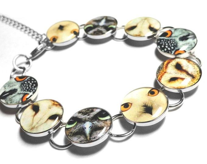 Owl Bracelet, Bird Jewelry, Handmade Bracelet, Birds, Owl Jewelry, Gift for Her, Bird Bracelet, Handmade Jewelry, resin bracelet