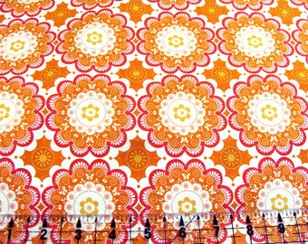 Flutter fabric Medallion 1/2 yard by The Quilted Fish for Riley Blake pumkin