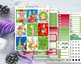 The Grinch Stole Christmas Planner Sticker Kit