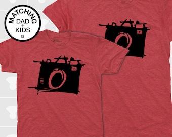 Dad Gift, Father Son Matching Shirts, Camera, Matching Shirts, Matching Dad Son, Daddy Daughter Shirts, Dad Baby Shirts, Dad Baby Matching
