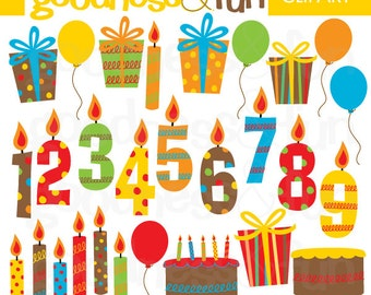 Buy 2, Get 1 FREE - Happy Birthday Clipart - Digital Birthday Clipart - Instant Download