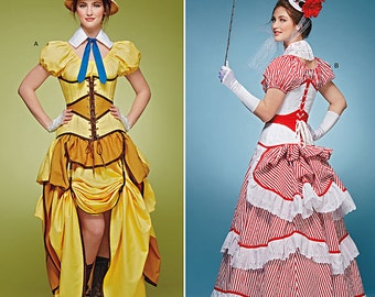 Sewing Pattern-Simplicity 8159-Steampunk Top, Corset and Skirt-Size 6-14