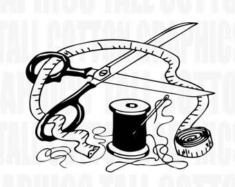 SEAMSTRESS SEWING Tools Vinyl Decal - #JB044