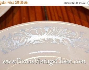 Vintage Corelle Sea and Sand Plates Bread and Butter Dessert Plates Lot of 3 White and Blue