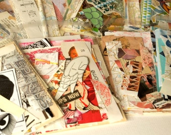 Collage scraps - lucky-dip pack of snippets from a variety of papery sources