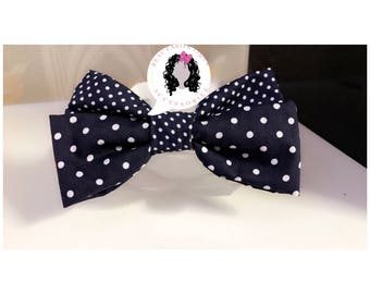 Kids Headband, Polka Dot Navy Blue headband, Hair Accessories, Girls Heasband, Baby Jeadbands