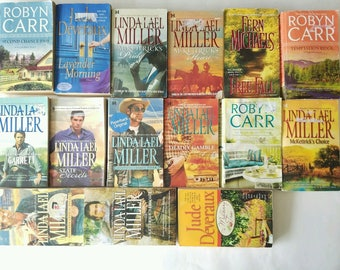 15pcs BOOKS Novel Fern/Jude/Carr/Miller Romance, Historical, Fiction & Suspense