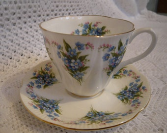 Vintage Royal Albert Dainty Dina Series BETTY Demitasse Cup and Saucer