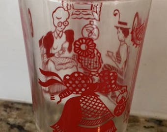Vintage Swanky Swig Red 3.75 Inches