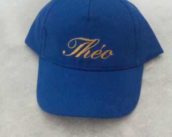 child's name embroidered Cap