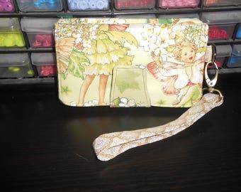 Golden Garden Fairy Pearl Wallet Clutch