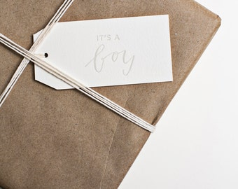 It's a Baby! gift tags