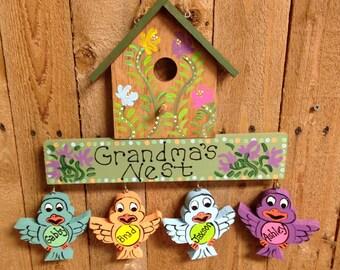 Birdhouse sign plaque