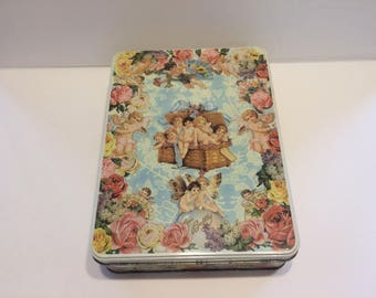 Vintage Stationary Tin With Stationary