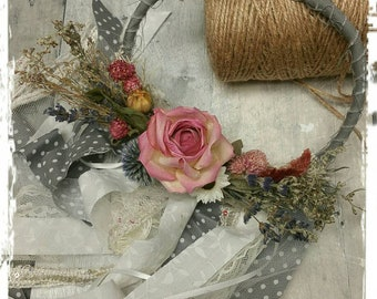 Dried Floral shabby chic wall hanging home decor