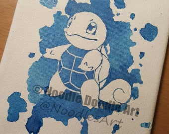 Squirtle Canvas - 5x7