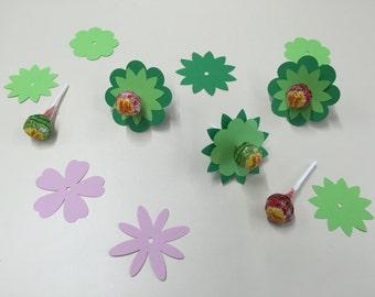 Paper Flowers for Lollipops | set of 12 | Party Favors