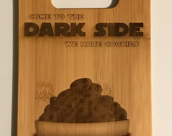 Star Wars - Come to the Dark Side We Have Cookies - Bamboo Cutting Board - Customizable