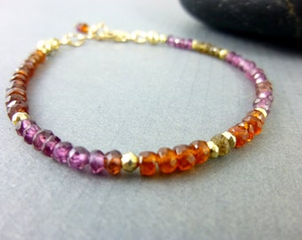 Sapphire Chakra Bracelet, Tunduru Sapphire Bracelet, Gift for Her, Healing Energy Bracelet, Stacking Chakra Bracelet, Energy Healing Jewelry
