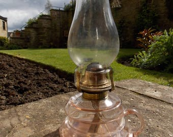 Victorian Pink Glass Fingerlamp