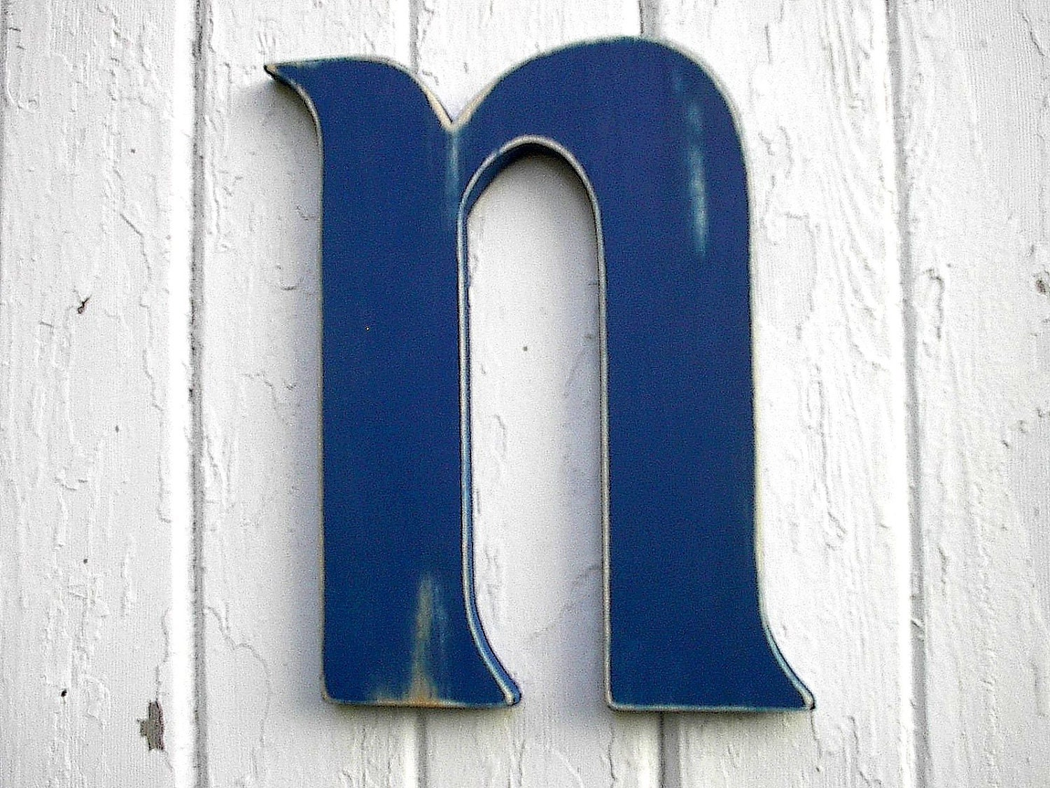 Wall Sign Letters Alluring Wooden Letter N Shabby Chic Nursery Kids Initial Navy Blue Decorating Inspiration