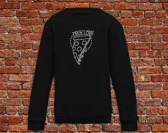 Pizza sweater, pizza lover gift, pizza lover, pizza tattoo, tattoo sweater, classic tattoo, old school, hipster gift, gift tattoo lover