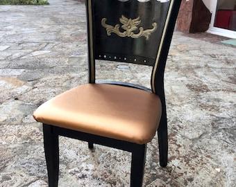 Black gold chair