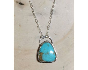 Kingman Turquoise Freeform Necklace | 16""