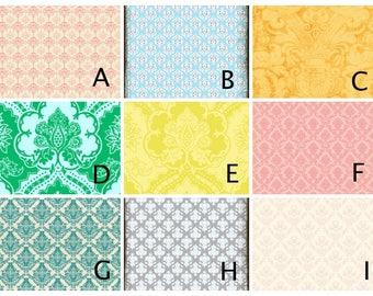 Choose Your Damask Design - Magnet Board - Dry Erase Board - Magnetic Memo Board - Framed Message Board - Bulletin Board - Magnets included