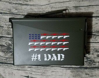 Personalized ammo box, gifts for dad  custom gifts , groomsman gifts, gifts for him, gun gifts,  wedding party gifts, father's day gifts