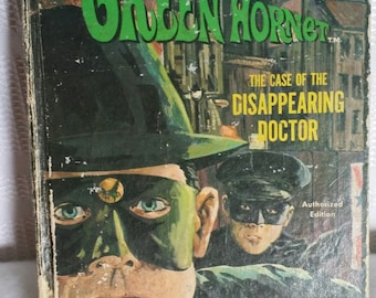 Green Hornet The Case of the Disappearing Doctor Vintage 1966 book, Vintage Green Hornet book, Green Hornet collectible